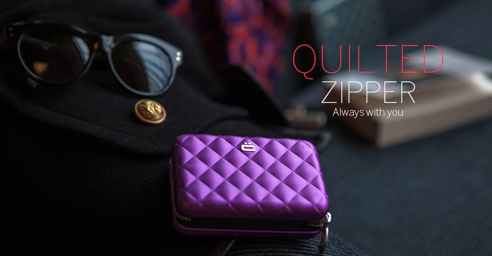 Quilted zipper