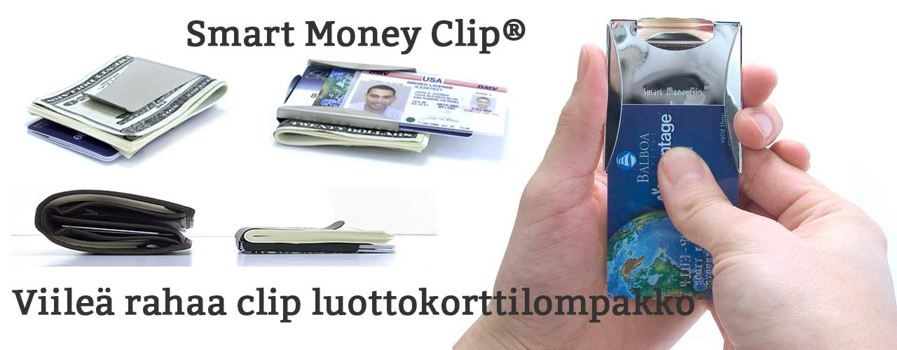 Smart money clip lompakko